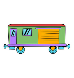 Railroad carriage icon icon cartoon vector