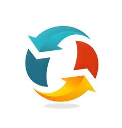 Refresh arrow circle logo vector