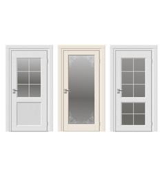 set of classic doors vector image