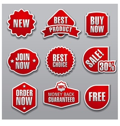 set of red advertising and promotion banners vector image vector image