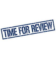 time for review stamp vector image vector image