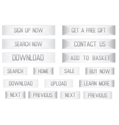 White web buttons set for shopping vector image