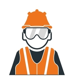Industrial worker icon vector