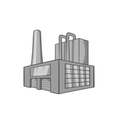 Large brewery icon black monochrome style vector