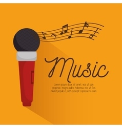 music festival instrument poster microphone vector image