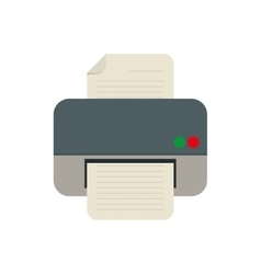 Printer work office copy equipment vector