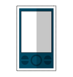 blue smartphone mobile technology communication vector image