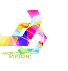 Abstract hexagonal shape colors vector
