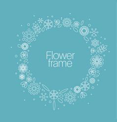 Minimalist floral background frame vector