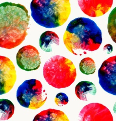 Colorful watercolor drop stain pattern vector