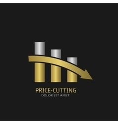 Price-cutting symbol logo vector