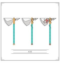 Fantasy Axe vector image