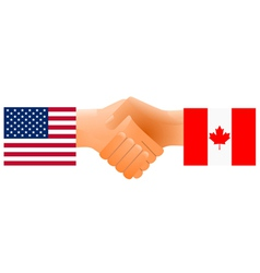 united states and canada vector image