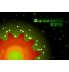 tech background green red big wheel vector image