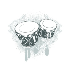 Drums emblem vector