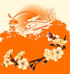 Japanese houses vector image