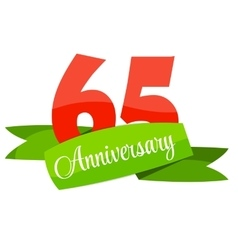 Cute template 65 years anniversary sign vector
