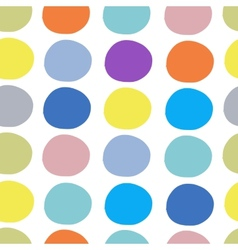 Abstract circles pattern seamless for your design vector image vector image