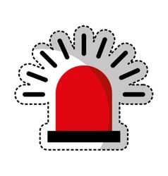 Alarm siren isolated icon vector
