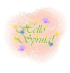 Beautiful Typographical Spring Background with vector image