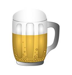 beer mug with foam vector image