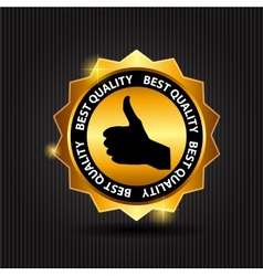 Best Quality Label with Red Ribbon vector image