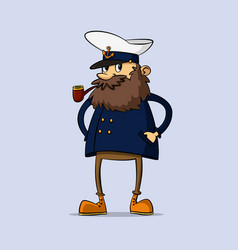 captain with a pipe vector image
