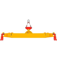 Container crane vector image