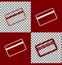 Credit card symbol for download bordo and vector