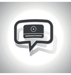 Curved mediaplayer message icon vector