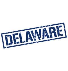 Delaware blue square stamp vector