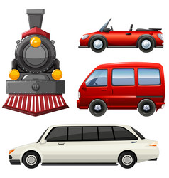 different types of vehicles vector image vector image