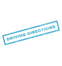 Driving directions rubber stamp vector