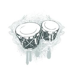 drums emblem vector image