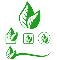 eco symbol vector image
