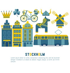 Flat icons stockholm vector