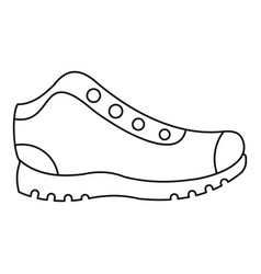 hiking boots icon thin line vector image
