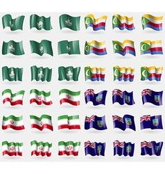 Macau comoros iran montserrat set of 36 flags of vector
