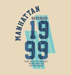 manhattan superior quality vector image