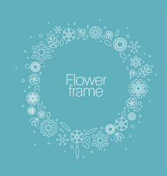 Minimalist floral background frame vector