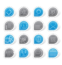Mobile phone performance internet and office vector