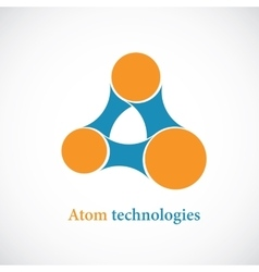 Molecule abstract icon vector