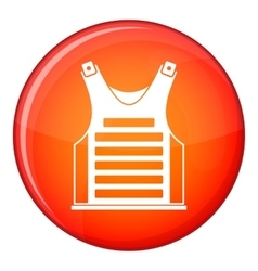 Paintball vest icon flat style vector