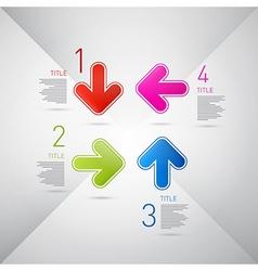 Progress Steps for Tutorial Infographics vector image vector image