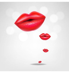 Red lips poster vector