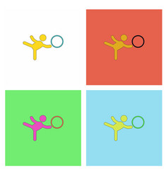 Rhythmic gymnastics design collection vector