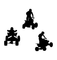 quad bikes vector image