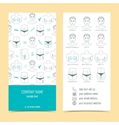 Flyer and brochure for plastic surgery clinic with vector