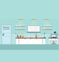 biology science lab interior or laboratory room vector image
