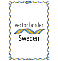 Frame and border of ribbon with the colors sweden vector